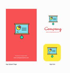 presentation chart company logo app icon and vector image