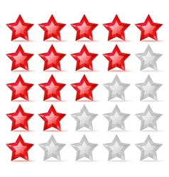Rating scale with crystal stars vector image