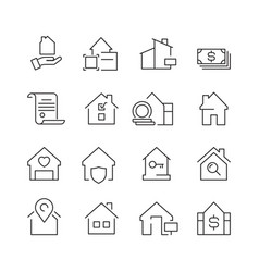 Real estate icons business marketing sale houses vector