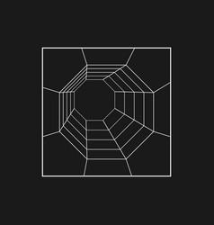 Retrofuturistic octagonal grid tunnel vector