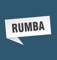Rumba speech bubble rumba ribbon sign rumba banner vector