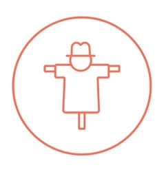 Scarecrow line icon vector image