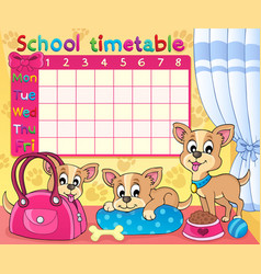 School timetable thematic image 5 vector