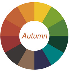 Seasonal color analysis palette for autumn type vector