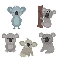 Set funny koalas vector