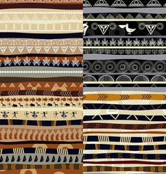 Set of tribal primitive african pattern vector