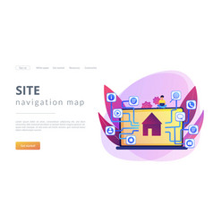 Sitemap creation concept landing page vector