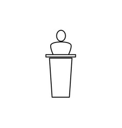 speech icon vector image