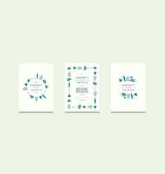 stock set of invitation on wedding design vector image