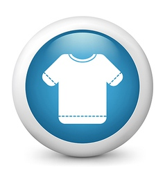 T shirt glossy icon vector