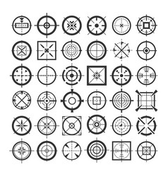 Target crosshair icons vector