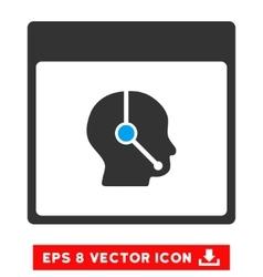 Telemarketing Operator Calendar Page Eps vector image