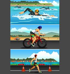 Triathlon sport vector