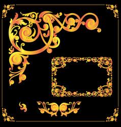 vintage frames and elements vector image