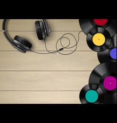 Vinyl realistic composition vector