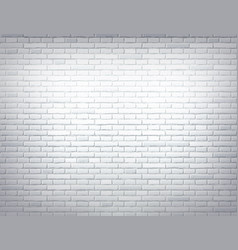 White brick wall texture background design vector