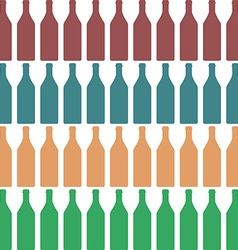 Bottle silhouette color vector image