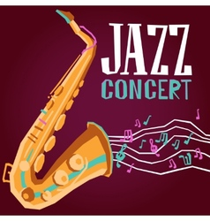 Jazz Poster With Saxophone vector image