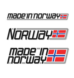 made in norway vector image vector image