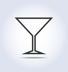 Wine glass simple web icon vector image
