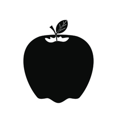 Apple icon black vector image vector image
