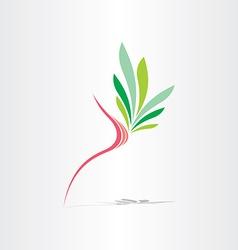 breast cancer healthy breast icon vector image vector image