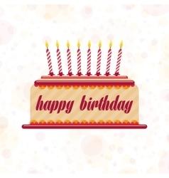 cake on his birthday vector image