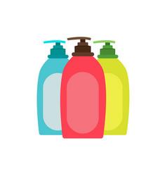 cream bottle hand tube cosmetic packaging white vector image