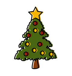 decorative christmas tree vector image