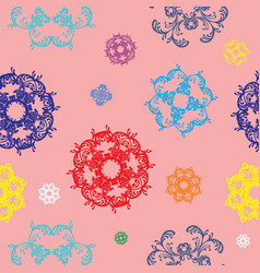 Seamless pattern with colorful decor vector