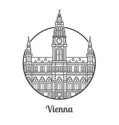travel vienna icon vector image vector image