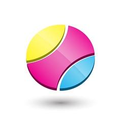 Abstract circle 3d icon logo template design vector image vector image