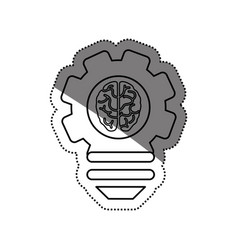 bulb idea and human brain vector image vector image