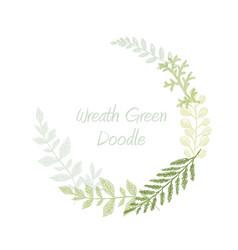 greenery scribble hand drawn herb border vector image vector image