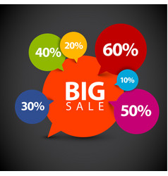 speech bubble pointer for sale item vector image vector image