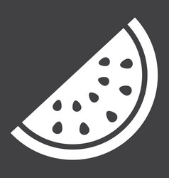 watermelon solid icon fruit and diet vector image