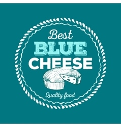 Best Blue Cheese icon hand drawn vector image