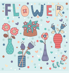 flower vase editable vector image