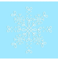 Lace snowflake isolated pattern sample decoration vector image