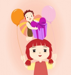 lovely birthday vector image vector image