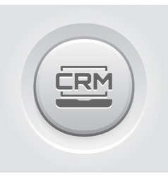 Online CRM System Icon Grey Button Design vector image