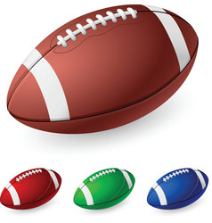 realistic american football on white background vector image vector image