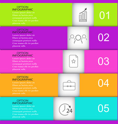 template infographics rectangle vector image