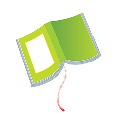 A view of book vector