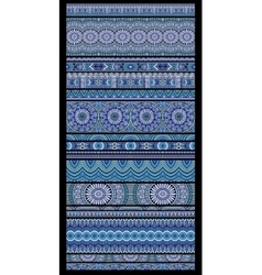 Abstract tribal ethnic seamless stripes vector