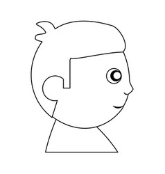baby child son head outline vector image