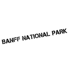 Banff National Park rubber stamp vector