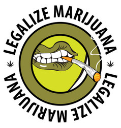 Banner marijuana smoking prohibiting vector