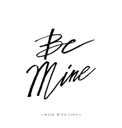 Types mining vector images over 150 be mine greeting card with calligraphy vector m4hsunfo
