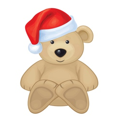 bear xmas vector image